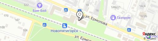 Столы-Стулья на карте Пятигорска