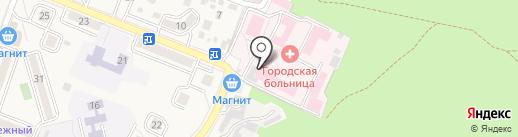 Городская больница г. Железноводска на карте Железноводска