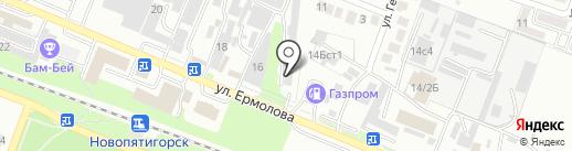 Геофизика на карте Пятигорска