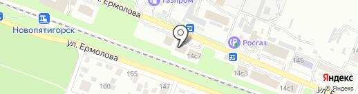Charmante на карте Пятигорска