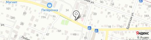 Магдалина на карте Пятигорска