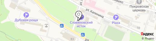 Славяновский на карте Железноводска