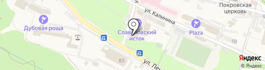 Славяновский исток на карте Железноводска