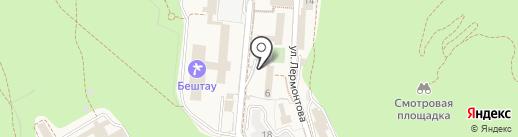 Детский санаторий им. Н.К. Крупской на карте Железноводска