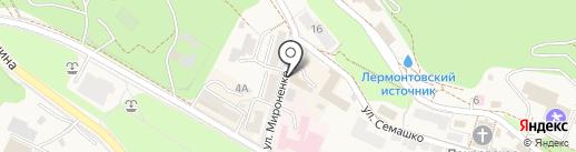 Дубовая роща на карте Железноводска
