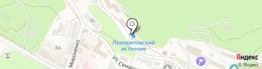 Лермонтовский бювет на карте Железноводска