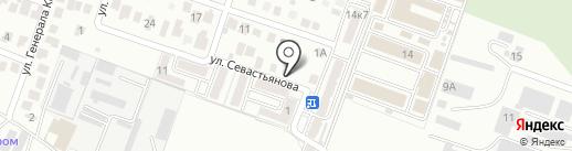 Экономка на карте Пятигорска