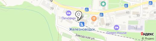 Тенториум на карте Железноводска