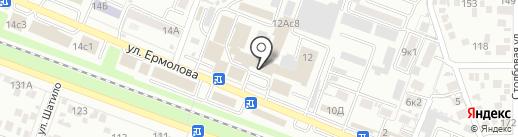 Астра на карте Пятигорска