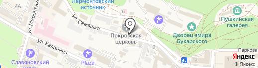 Ювента на карте Железноводска