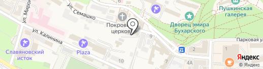Фонд социального страхования РФ на карте Железноводска