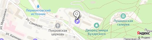 Санаторий им. Э. Тельмана на карте Железноводска
