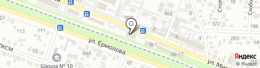 Текстиль-Комфорт на карте Пятигорска