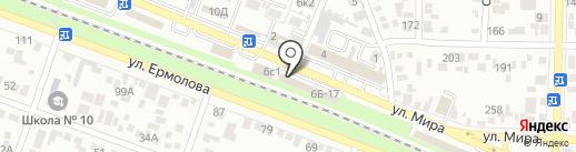 Валин-Текс на карте Пятигорска