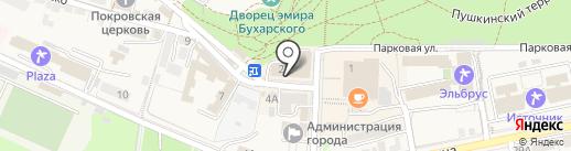 Царинной на карте Железноводска