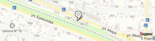 Дверъков на карте Пятигорска