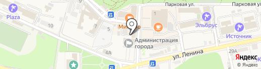 Вина Прасковеи на карте Железноводска