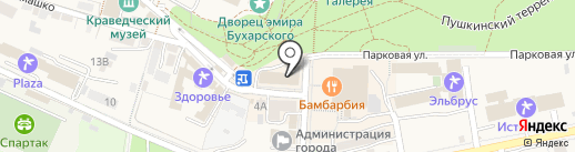 Банкомат, КБ ЕвроситиБанк на карте Железноводска