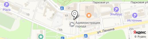Вина Прасковеи-1 на карте Железноводска