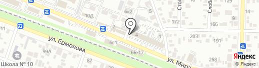 Аэродизайн на карте Пятигорска