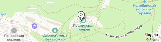 Пушкинская галерея на карте Железноводска