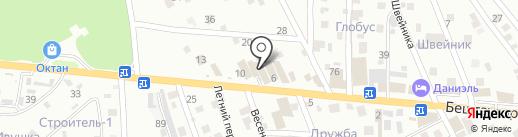 Лигрим на карте Пятигорска