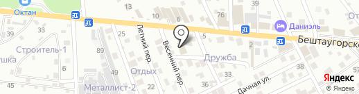 Стеклокомплект на карте Пятигорска