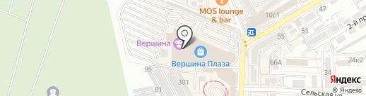 Л`Этуаль на карте Пятигорска