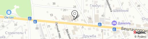 Акватория на карте Пятигорска
