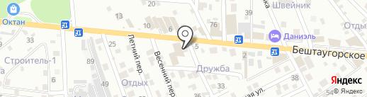 Батарейка на карте Пятигорска