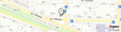 Декораторъ на карте Пятигорска
