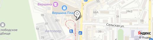 На квартале на карте Пятигорска