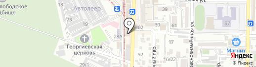 Мясной №1 на карте Пятигорска