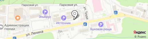 Караван на карте Железноводска