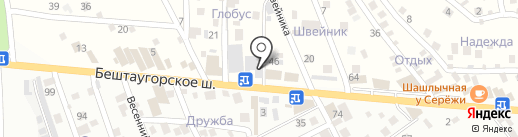 Камнетёс на карте Пятигорска