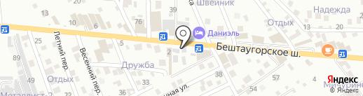 Столовая на карте Пятигорска