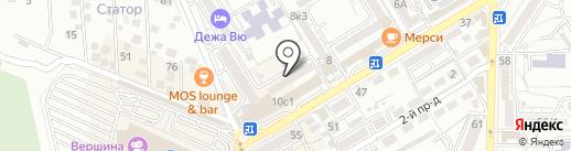 Колбер на карте Пятигорска