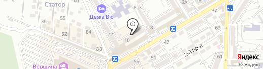Универсал на карте Пятигорска