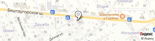 Стеллажи на карте Пятигорска