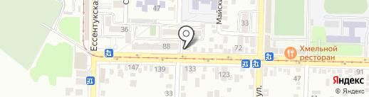 Легенда-Алко на карте Пятигорска