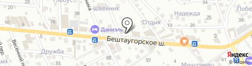 Сварог на карте Пятигорска