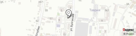 Яблочко на карте Пятигорска