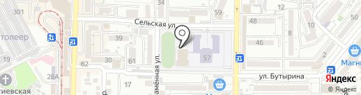 Спортивный комплекс на карте Пятигорска