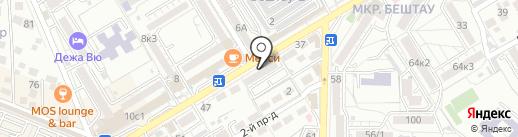Банкомат, Ставропольпромстройбанк на карте Пятигорска