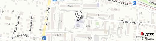Детский сад №38, Журавушка на карте Пятигорска