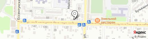 Нано на карте Пятигорска