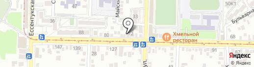 Нано-мойка на карте Пятигорска