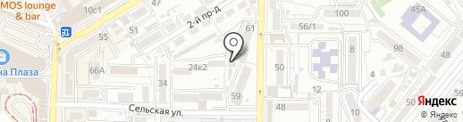 Пекарня на карте Пятигорска