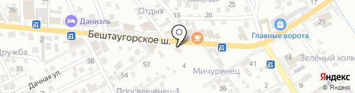 Торгово-сервисная компания на карте Пятигорска