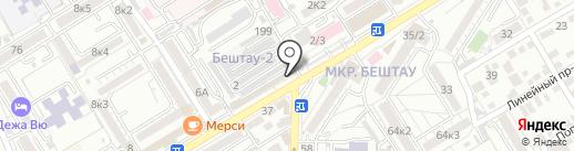 Смарт на карте Пятигорска